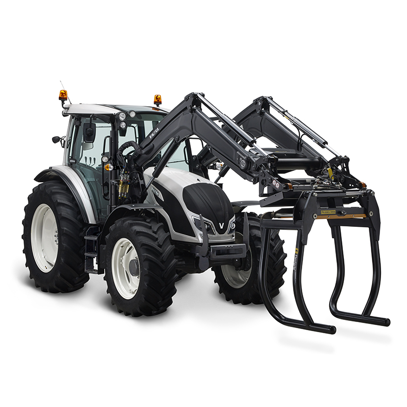 valtra a series white tractor in a studio