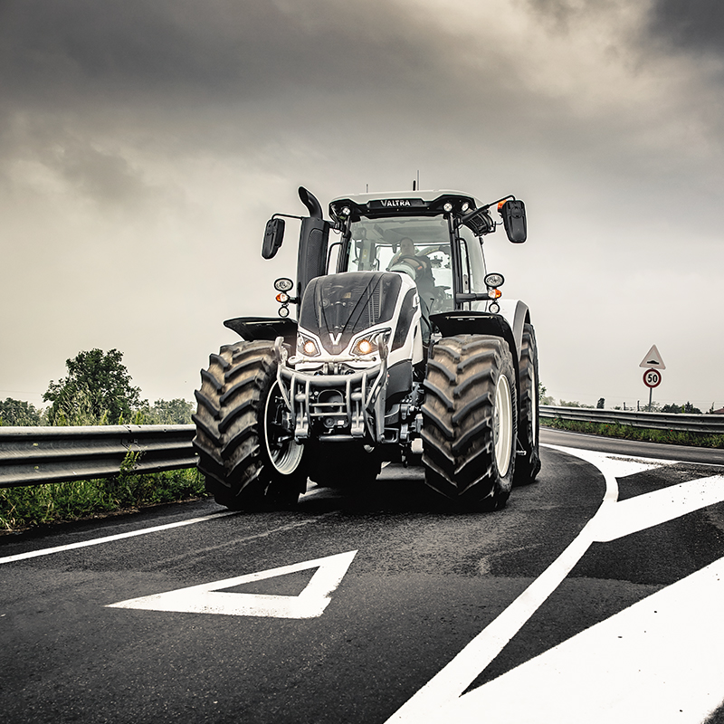 Valtra tractor on road